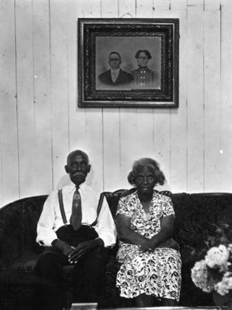 Mr. and Mrs. Albert Thornton, Sr. the Son of a Slave, a Sharecropper and Independent Farmer