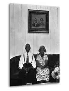Mr. and Mrs. Albert Thornton, Sr. the Son of a Slave, a Sharecropper and Independent Farmer by Gordon Parks