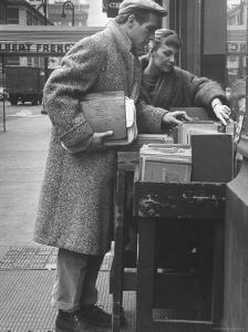 Paul Newman Shopping with His Wife, Joanne Woodward by Gordon Parks