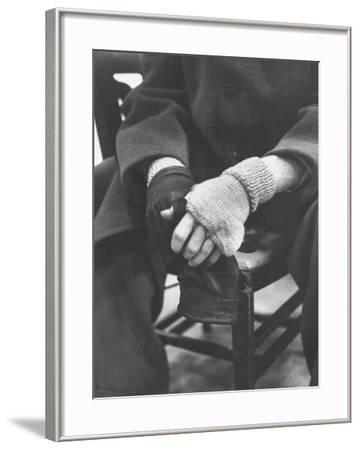 Pianist Glenn Gould in Fingerless Gloves Worn to Keep Hands Supple, Columbia Recording Studio