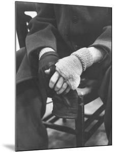 Pianist Glenn Gould in Fingerless Gloves Worn to Keep Hands Supple, Columbia Recording Studio by Gordon Parks
