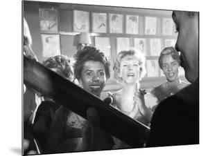 Playwright Lorraine Hansberry Enjoys Music at the Raisin in the Sun Opening Night Party at Sardis by Gordon Parks