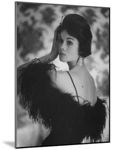 Sheath Dress Topped with Ostrich Feathers by California Designer by Gordon Parks