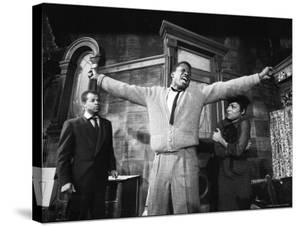 "Sidney Poitier in Dramatic Scene from Play ""A Raisin in the Sun"", Actress Ruby Dee Visible on Right by Gordon Parks"