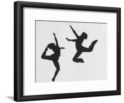 Silhouettes of Dancers Diane Sinclair and Ken Spaulding