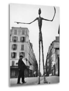 Skeletal Giacometti Sculpture on Parisian Street by Gordon Parks