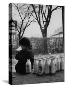 Small Boy Helping Himself to Milk by Gordon Parks