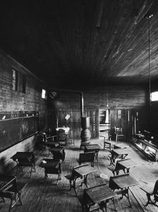Sub Standard Grade School Classroom at African American School, the Effect of Segregation by Gordon Parks