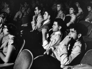 Teenage Audience Indoors at the Movies by Gordon Parks