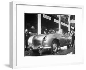 The British Triumph Roadster at the Paris Auto Show by Gordon Parks