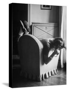 Toni Riddleberger Talking on the Phone About a Boyfriend by Gordon Parks