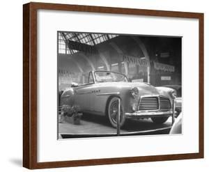 View of the Delahaye, Seen at the Paris Auto Show by Gordon Parks