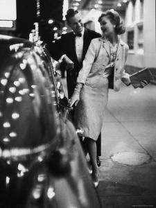 Woman Wearing Daridow Copy of Chanel Evening Suit by Gordon Parks