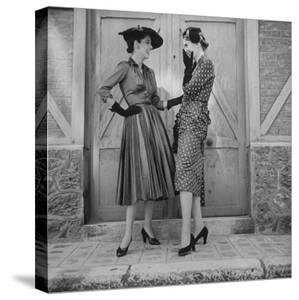 Women Modeling Spring Dresses by Gordon Parks