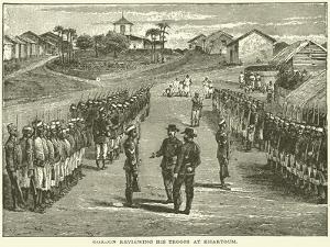 Gordon Reviewing His Troops at Khartoum