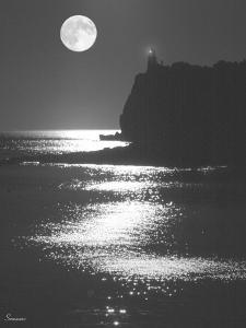 Lake Superior Lighthouse by Gordon Semmens