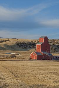 A Grain Elevator Stands Amid Fallow Wheat Fields in the Gallatin Valley, North of Bozeman by Gordon Wiltsie