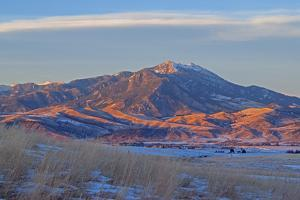 A Lenticular Cloud Hovers over Mount Baldy in the Bridger Mountains, Above the Gallatin Valley by Gordon Wiltsie