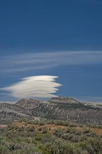 A Lenticular Cloud Hovers over the Mono Inyo Craters by Gordon Wiltsie