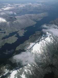 An Aerial View of Cordillera Darwin on Tierra Del Fuego by Gordon Wiltsie