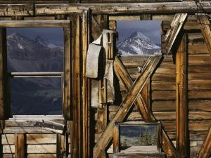 An Old Miners Shack with a View of the San Juan Mountains by Gordon Wiltsie