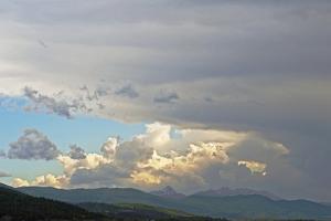 Evening Storm Clouds Swirl over the Spanish Peaks Near Bozeman, Montana by Gordon Wiltsie