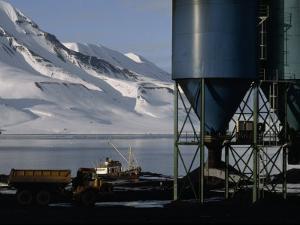 Hoppers Hold Arctic Coal Mined Near Longyearbyen by Gordon Wiltsie