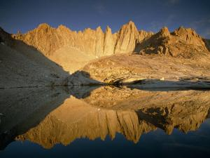 Mount Whitney Reflected in a Nearby Mountain Tarn by Gordon Wiltsie