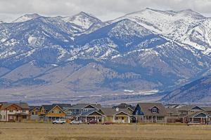 New Houses Replace Farm Fields Below the Bridger Mountains Near Bozeman, Montana by Gordon Wiltsie