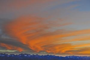 Sunset over the Palisade Region of the Eastern Sierra Nevada, Above the Owens Valley by Gordon Wiltsie