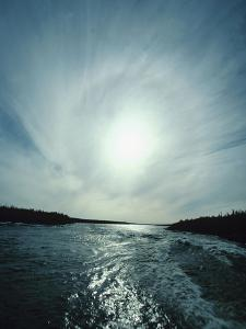 Gorgeous Sun Over Flowing River