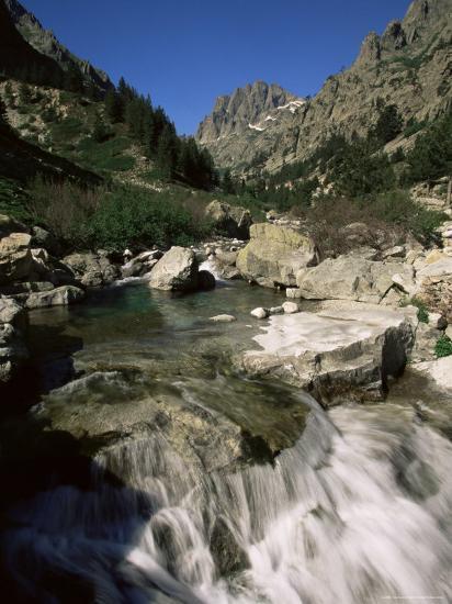 Gorges De La Restonica, Bergeries De Grotelle, Corsica, France, Europe-Yadid Levy-Photographic Print
