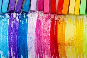 Colorful Chalk Pastels - Education, Arts,Creative, Back To School by Gorilla