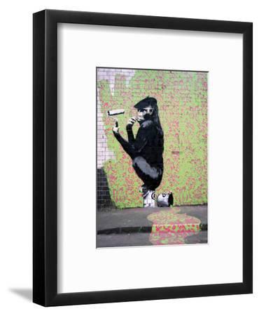 Gorilla-Banksy-Framed Giclee Print
