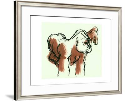 Gorillas, ink drawing, 1975--Framed Giclee Print