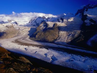 Gorner Glacier and Monte Rosa Massif, Valais, Switzerland-Gareth McCormack-Photographic Print
