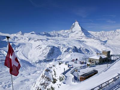 Gornergrat Mountain, Zermatt, Valais, Switzerland-Walter Bibikow-Photographic Print