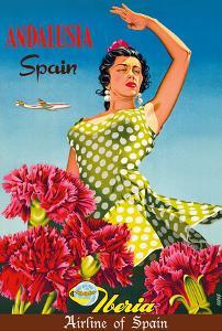 Andalusia, Spain - Iberia Air Lines of Spain - Flamenco Dancer by Goros