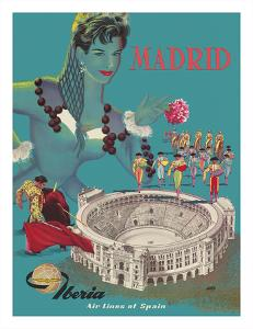 Madrid - Iberia Air Lines of Spain - Plaza de Toros de Las Ventas - Bullfighting Arena by Goros