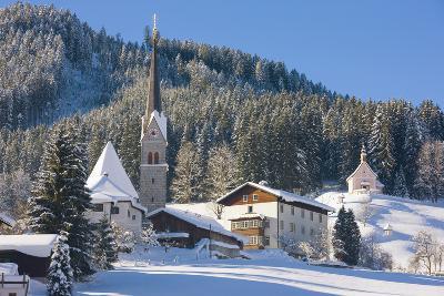 Gosau in Winter, Gosau, Salzkammergut, Austria, Europe-Miles Ertman-Photographic Print