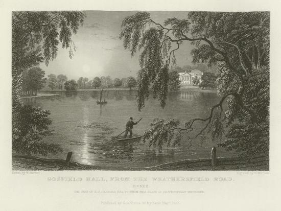 Gosfield Hall, from the Weathersfield Road, Essex, the Seat of E G Barnard, Esquire-William Henry Bartlett-Giclee Print