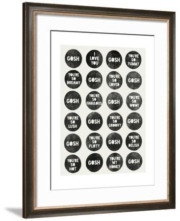Gosh Quotes-Garima Dhawan-Framed Giclee Print