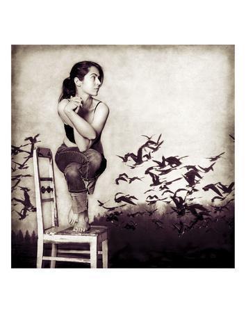 Joga Naga Gosia Janik Photograph Yoga Woman Nude Print Poster 12x12