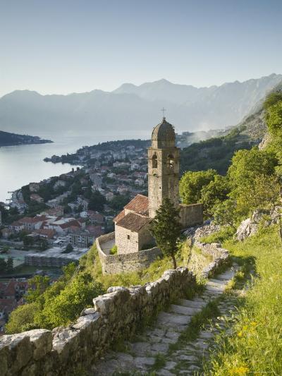 Gospa Od Zdravlja Church, Kotor, Kotor Bay, Montenegro-Walter Bibikow-Photographic Print