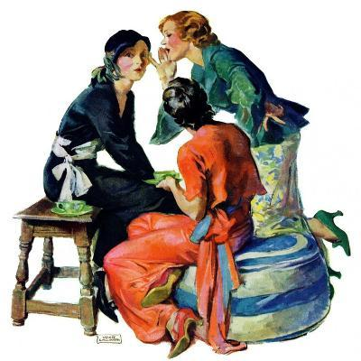"""Gossiping,""December 5, 1931-John LaGatta-Giclee Print"