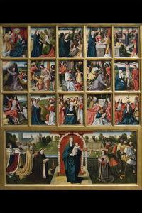 Fifteen Mysteries and the Virgin of the Rosary by Goswyn van der Weyden