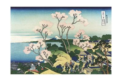 Goten-Yama Hill, at Shinagawa on the Tokaido-Katsushika Hokusai-Giclee Print