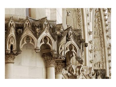 Gothic Cathedral Stone Detail--Art Print