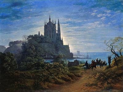 Gothic Church on a Cliff by the Sea by Karl Friedrich Schinkel--Giclee Print