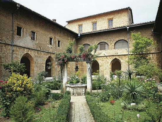 Gothic Cloister in Monastery of St Scholastica, Subiaco--Giclee Print